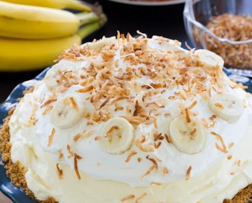 עוגת פאי קרם בננה