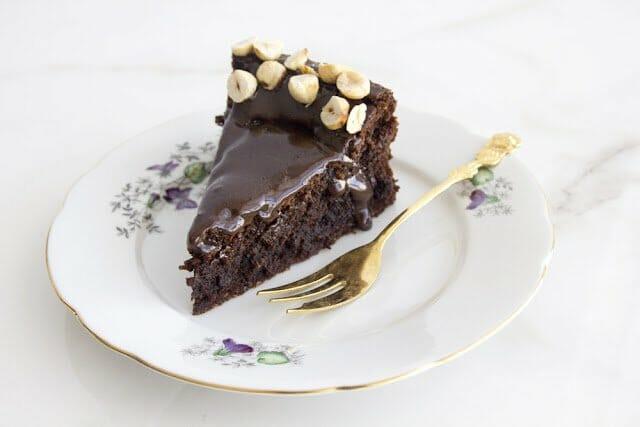 מתכון לעוגת שוקולד, קפה ואגוזים לפסח