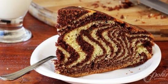 עוגת זברה קלה להכנה