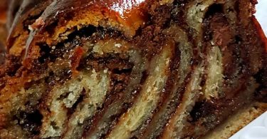 מתכון רולדת שמרים שוקולד נוטלה ופירורי לוטוס