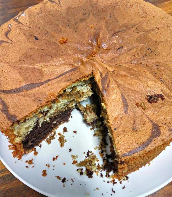 עוגת שיש שוקולית עם נס