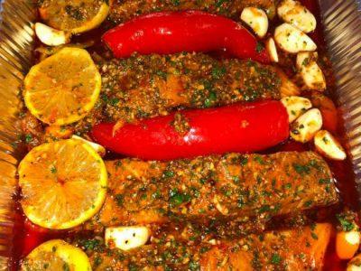 דג סלמון תנור