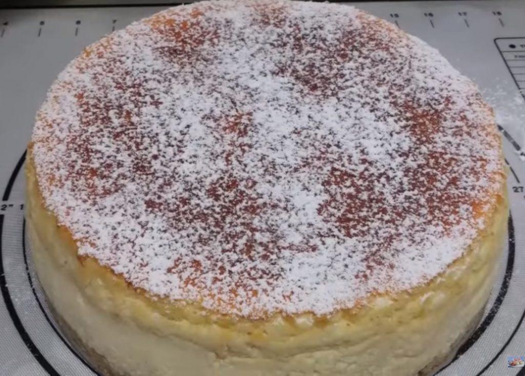 עוגת גבינה אפויה, גבוהה, כמו בקונדיטוריה