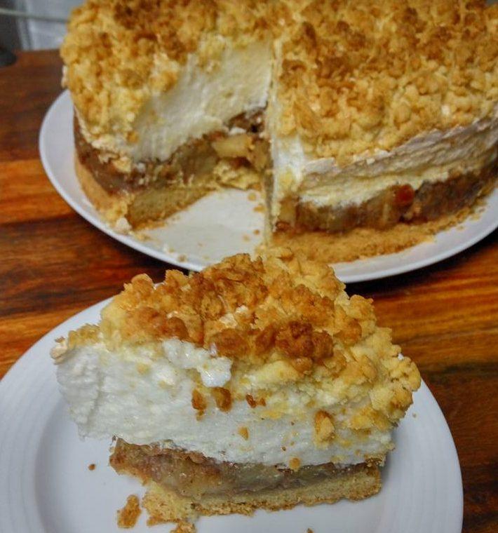 עוגת תפוחים וניל