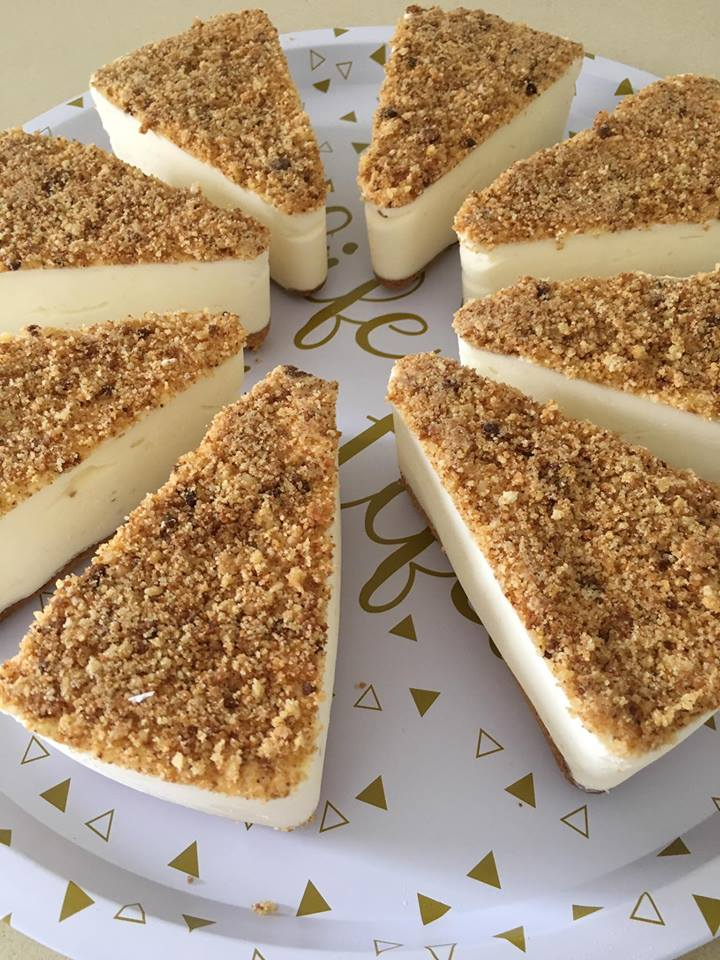 עוגת גבינה פירורים סיוון אוחין אברג'יל