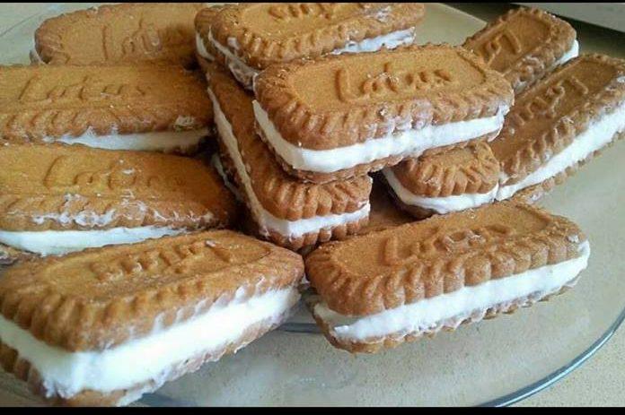 עוגת גלידה לוטוס