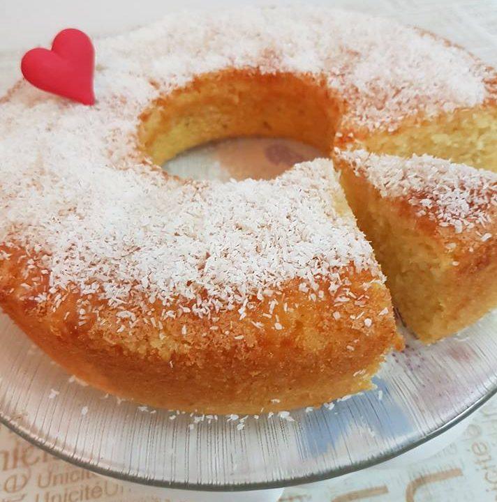 עוגת קוקוס תפוזים וסולת של ארומה -