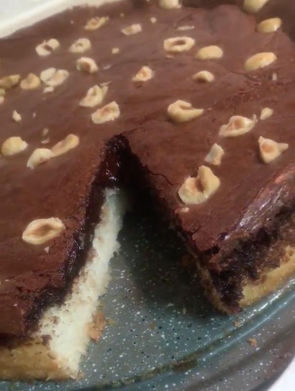 עוגת קוקוס ומוס שוקולד