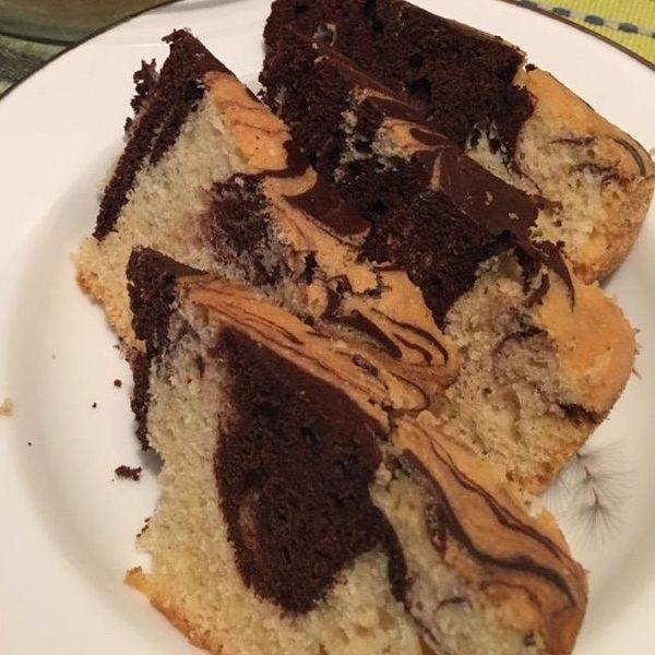 עוגת שיש בחושה קלה וטעימה