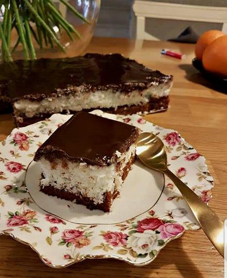 עוגת באונטי שוקולד וקוקוס