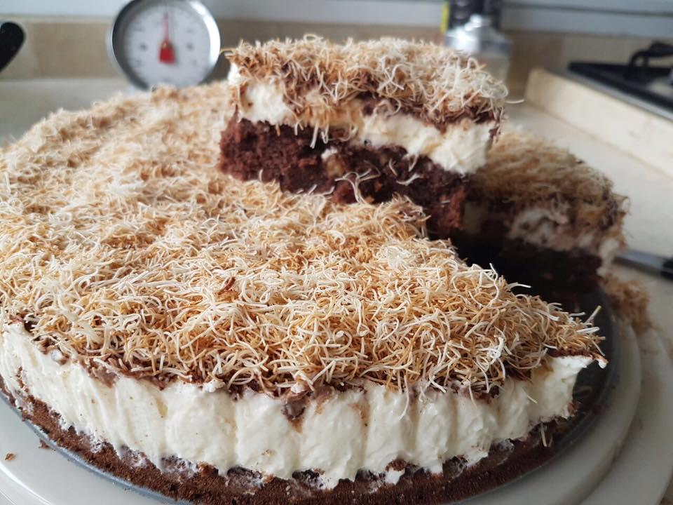 עוגת בראוניז וקדאיף
