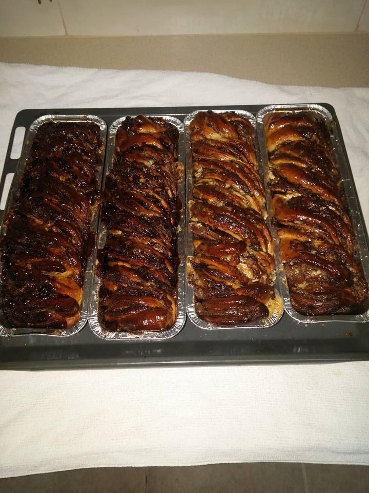עוגת שמרים קראנצ'ית
