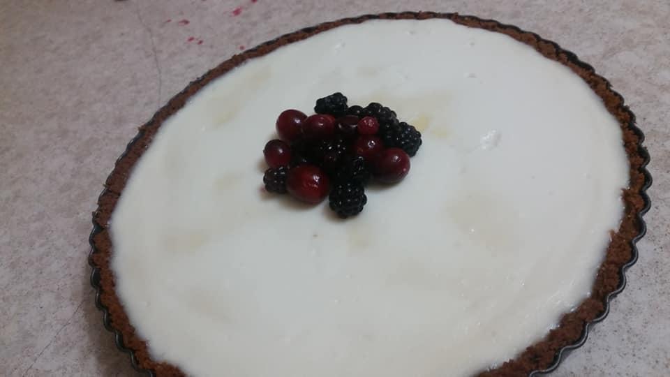עוגת גבינה לוטוס לימונית