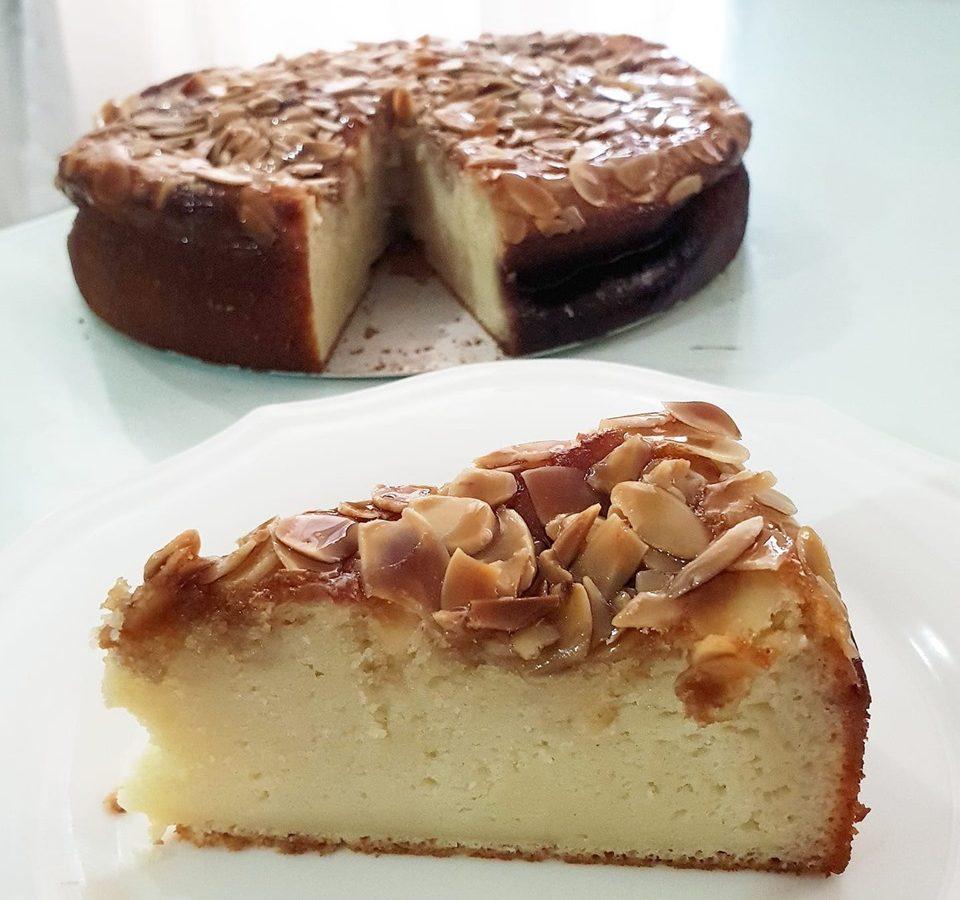 עוגת גבינה שקדים ומייפל
