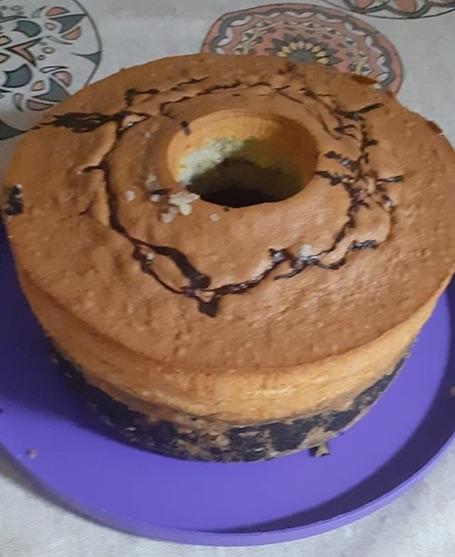 עוגת שיש ביתית גבוהה