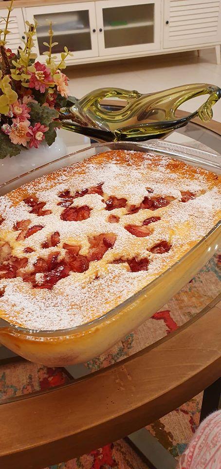 עוגת גבינה אפוייה עם פירות יער