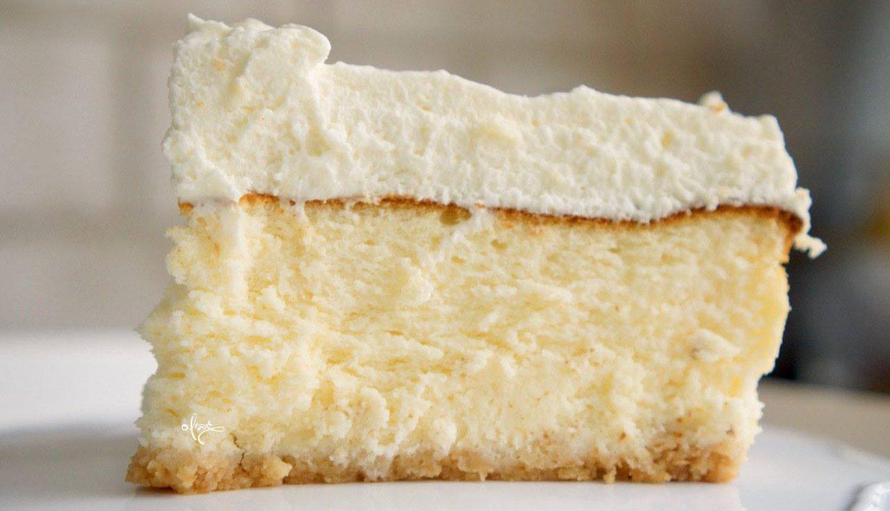 עוגת גבינה גבוהה ואוורירית