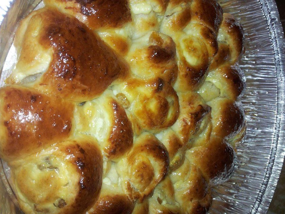עוגת שמרים עם גבינה מתוקה