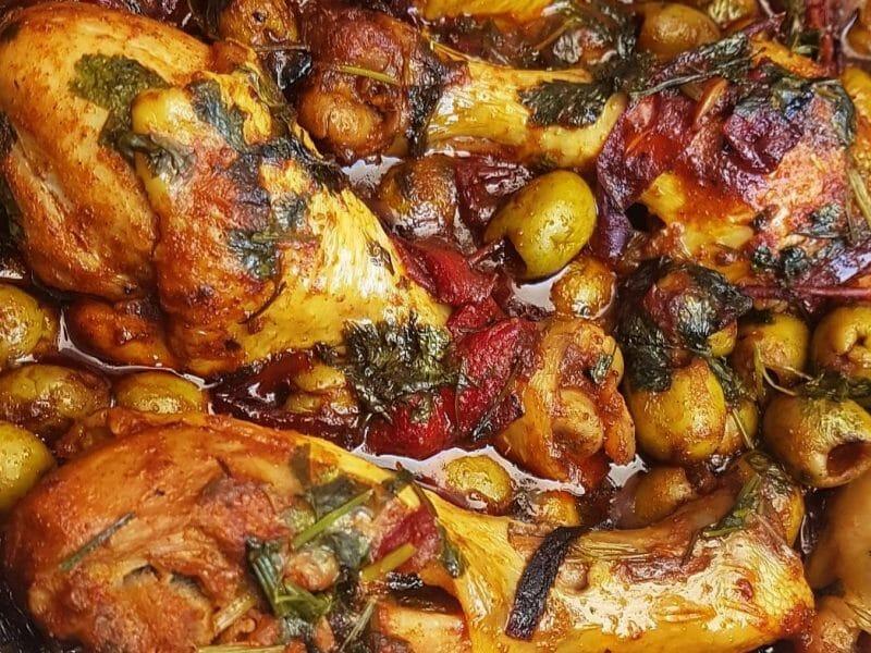 תבשיל עוף עם זיתים