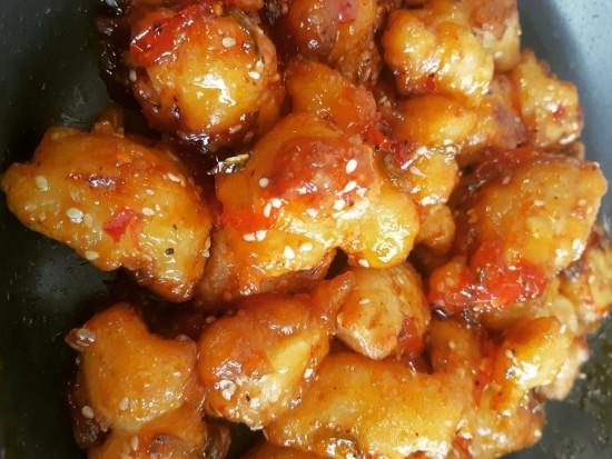 עוף חמוץ מתוק בטמפורה