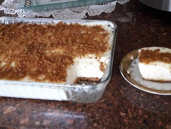 עוגת גבינה קרה ב-10 דקות