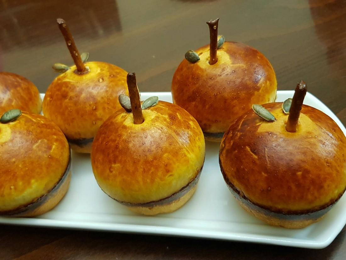 לחמניות לראש השנה בצורת תפוח
