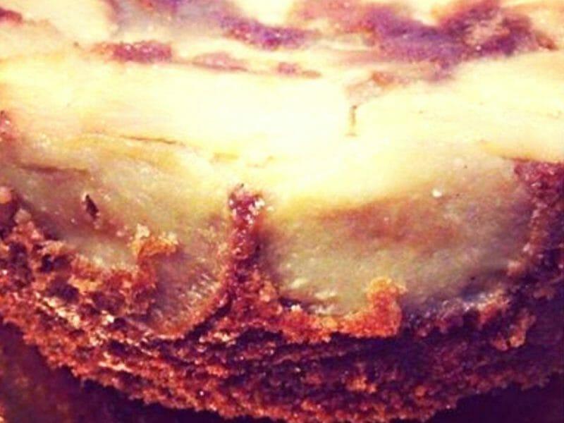 עוגת תפוחים הפוכה עם דבש