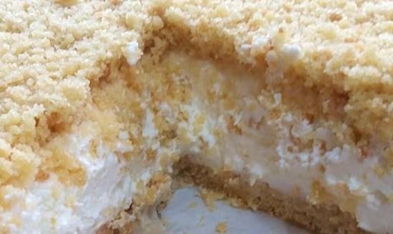 עוגת שמנת פירורים פשוטה וטעימה (1)