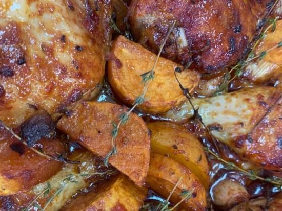 עוף ברוטב ב-5 דקות עם ירקות 2