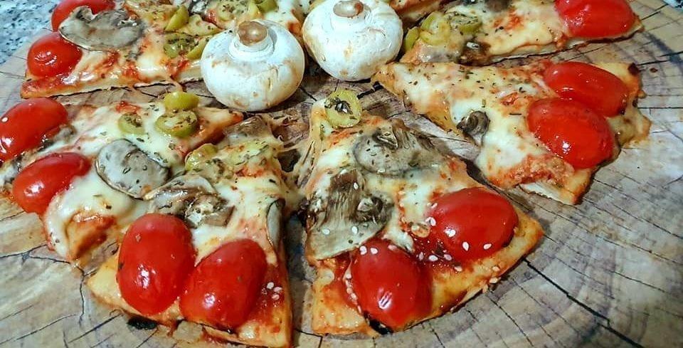 פיצה במחבת מ-3 מצרכים (סרטון הכנה) 2