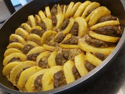 קציצות עם תפוחי אדמה בתנור 2