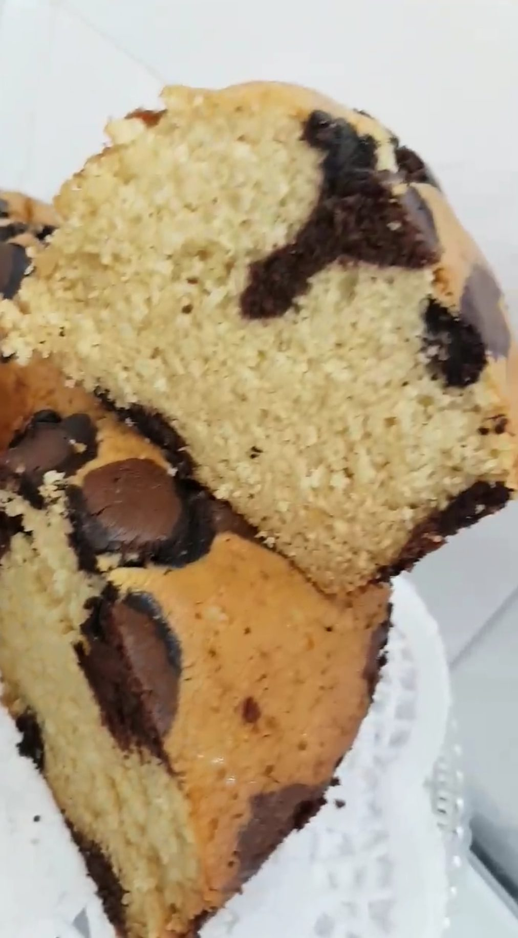 עוגת וניל מנומרת