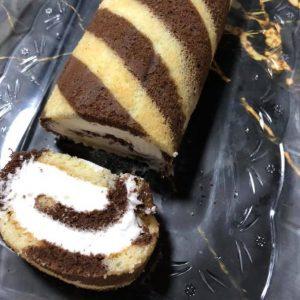 עוגת רולדה מנומרת 2