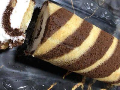 עוגת רולדה מנומרת