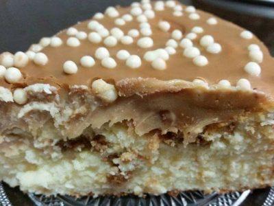 עוגת גבינה אפויה שם שוקולד לבן קוקוס ולוטוס