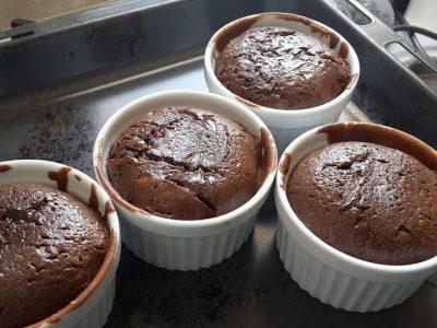 סופלה שוקולד ב-9 דקות בתנור