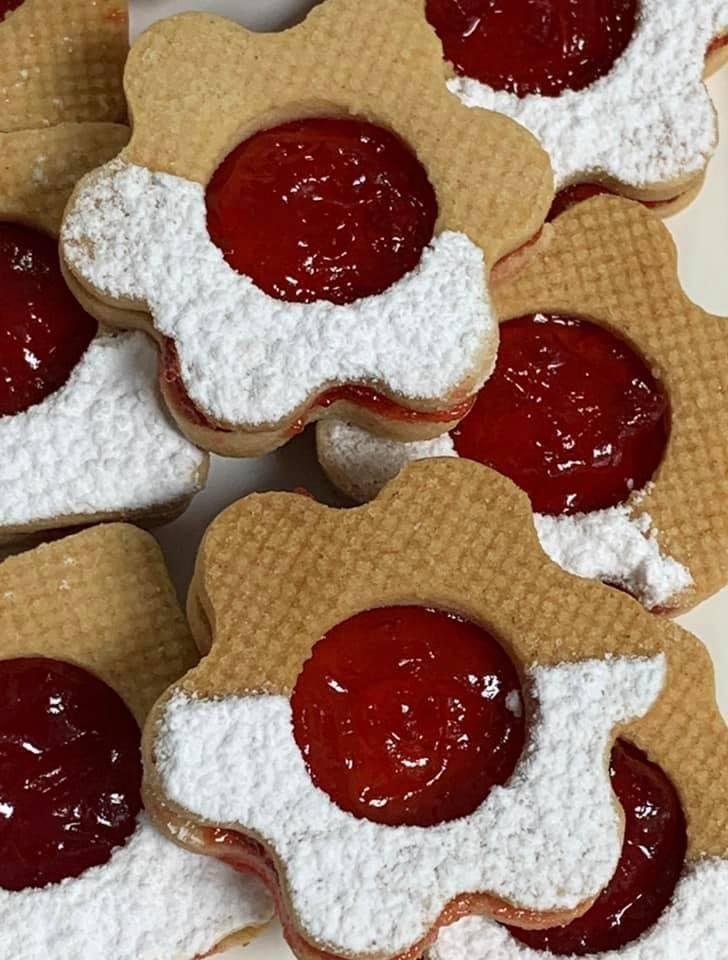 עוגיות ריבה פרח