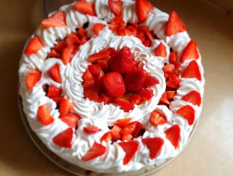 עוגת גבינה תות