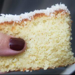 עוגת סולת תפוזים עם קוקוס