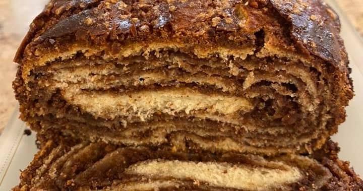 עוגת שמרים שוקולד קיפולים
