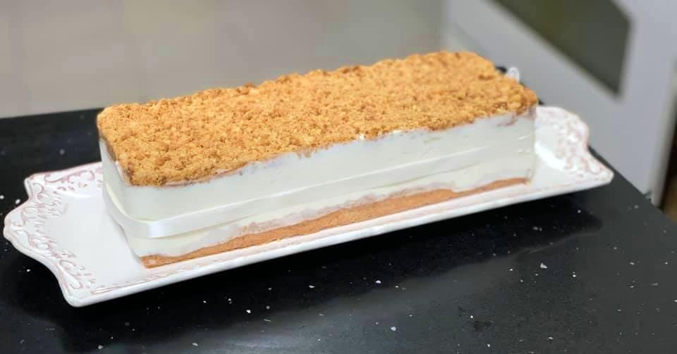 עוגה גבינה פירורים