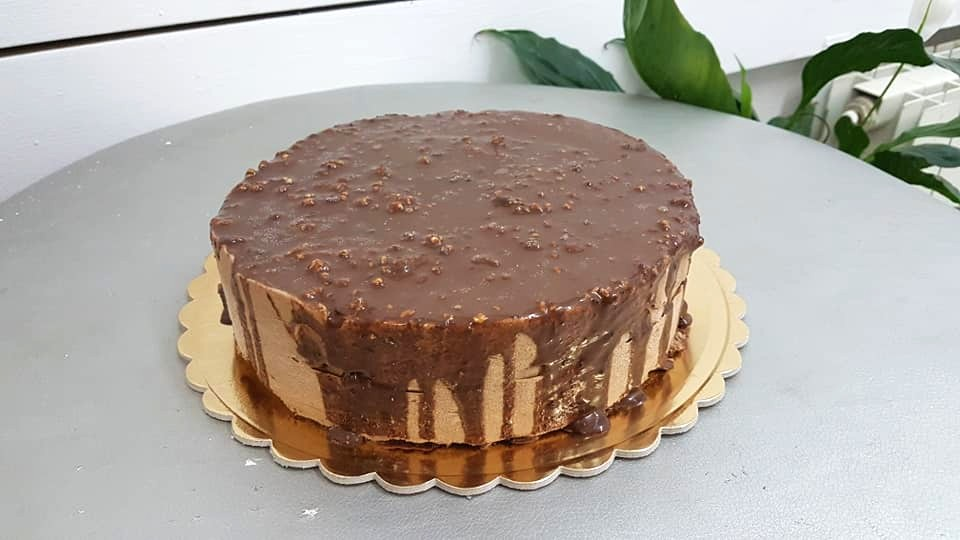עוגת מוס שוקולד קפה
