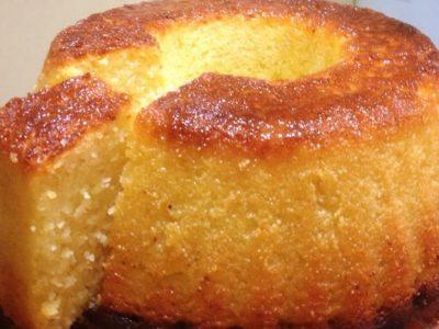 עוגת תפוזים וקוקוס עם סולת