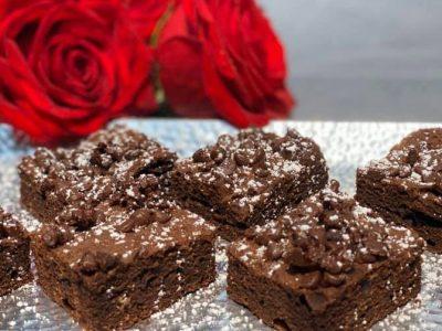 בראוניז שוקולד צ'יפס לפסח