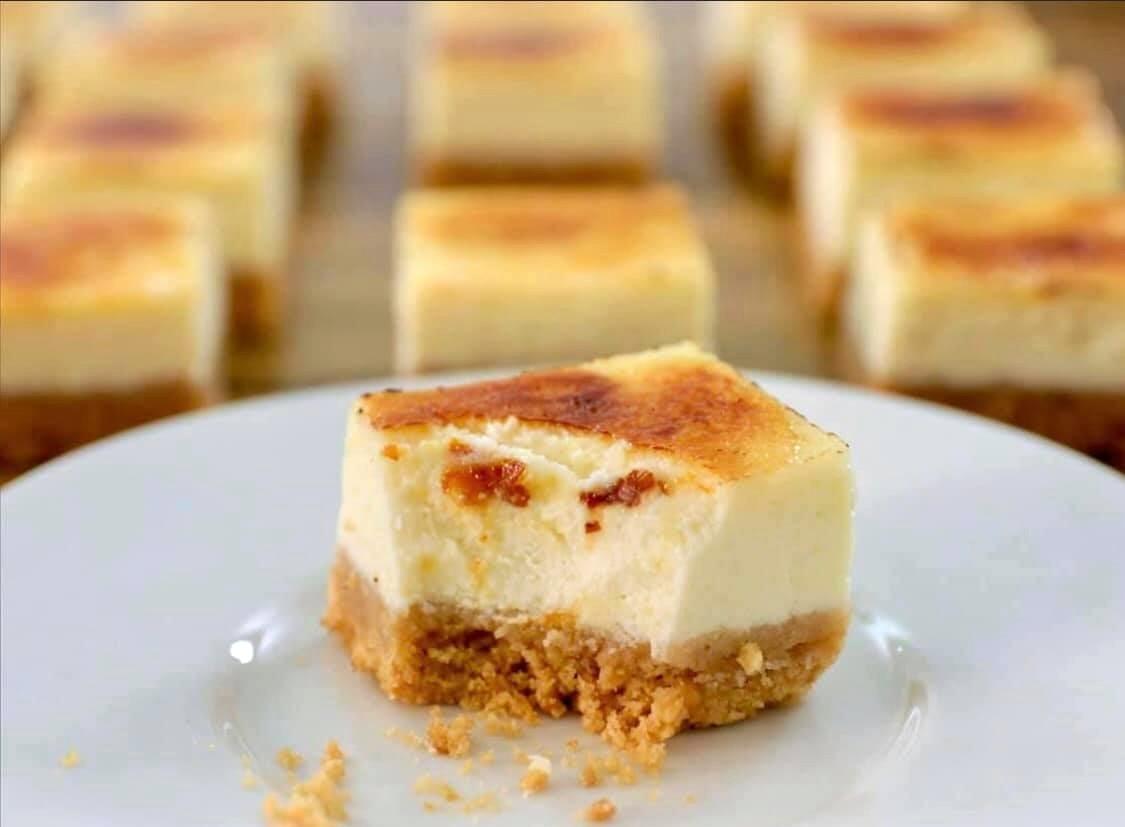 חיתוכיות עוגת גבינה ברולה