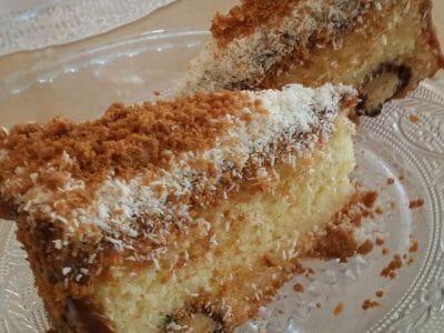 עוגת גבינה בחושה עם קוקוס