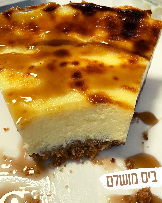 עוגת גבינת שמנת אפויה - ביס מושלם
