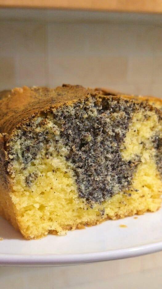 עוגת שיש פרג