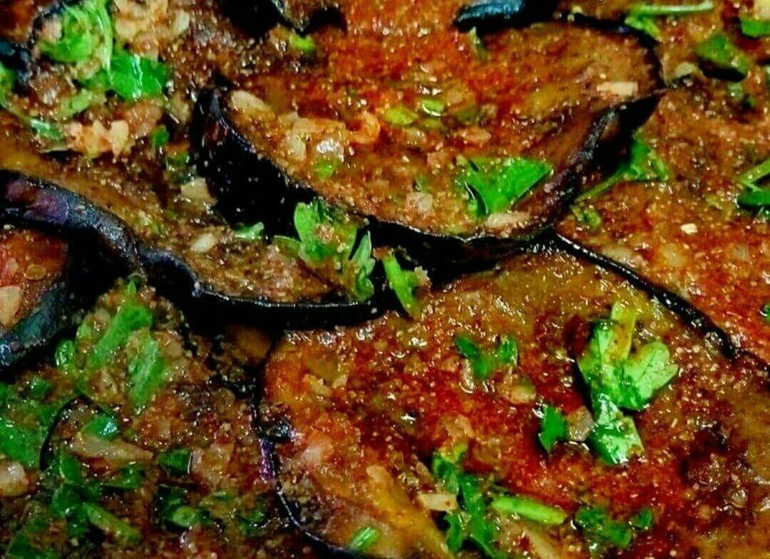 סלט חצילים מתובל מהמטבח המרוקאי