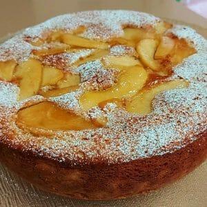 עוגת תפוחים בחושה הפוכה קלה להכנה